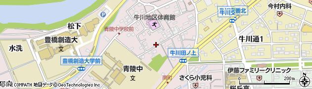 愛知県豊橋市牛川町(田ノ上)周辺の地図