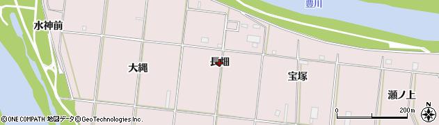 愛知県豊橋市牛川町(長畑)周辺の地図