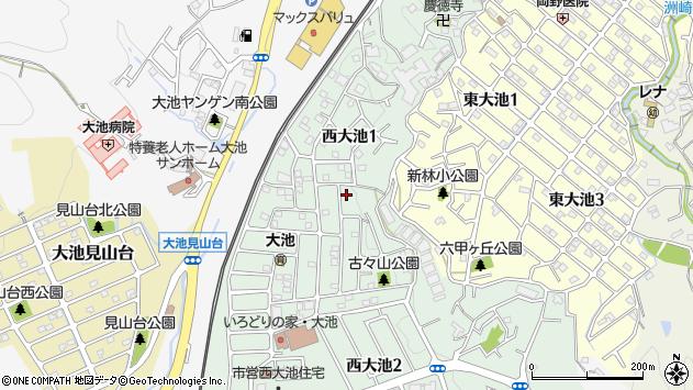 〒651-1201 兵庫県神戸市北区西大池の地図