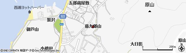 愛知県蒲郡市西浦町(藤九郎山)周辺の地図