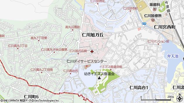 〒665-0065 兵庫県宝塚市仁川旭ガ丘の地図
