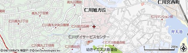 兵庫県宝塚市仁川旭ガ丘周辺の地図