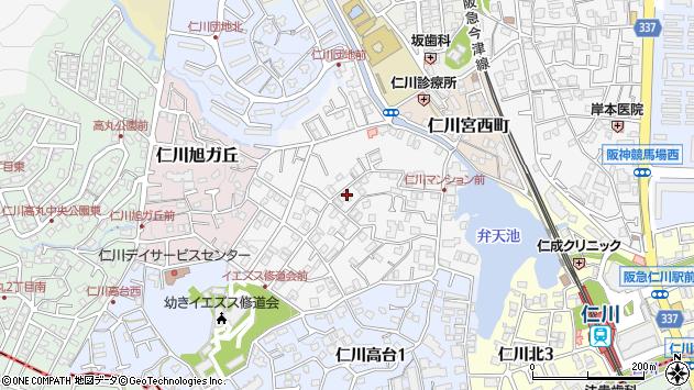 〒665-0067 兵庫県宝塚市仁川月見ガ丘の地図