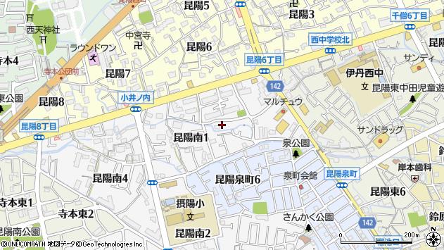 〒664-0888 兵庫県伊丹市昆陽南の地図