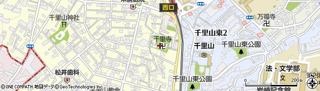 千里寺周辺の地図