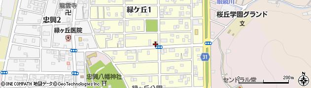 愛知県豊橋市緑ケ丘周辺の地図
