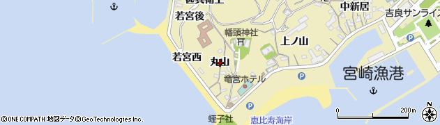 愛知県西尾市吉良町宮崎(丸山)周辺の地図