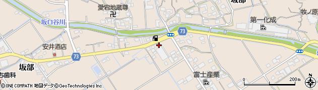 静岡県牧之原市坂部周辺の地図