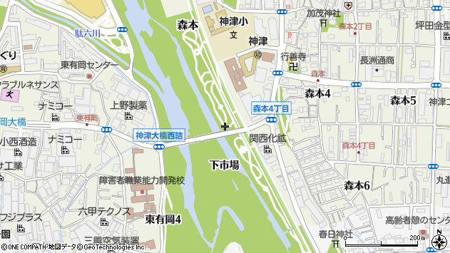 〒664-0842 兵庫県伊丹市森本の地図