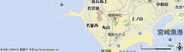 愛知県西尾市吉良町宮崎(若宮西)周辺の地図