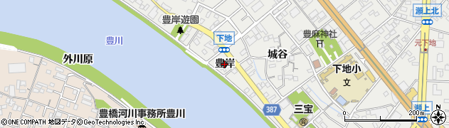 愛知県豊橋市下地町(豊岸)周辺の地図