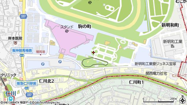 〒665-0053 兵庫県宝塚市駒の町の地図