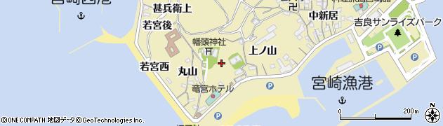 愛知県西尾市吉良町宮崎(宮前)周辺の地図
