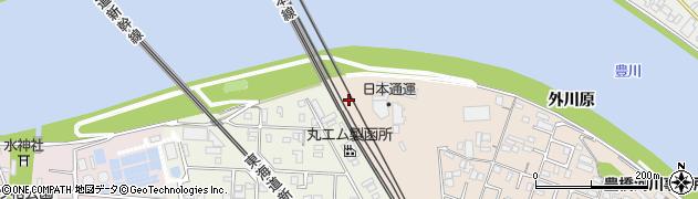 愛知県豊橋市北島町(西川原)周辺の地図