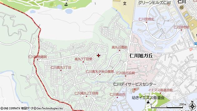 〒665-0063 兵庫県宝塚市仁川高丸の地図