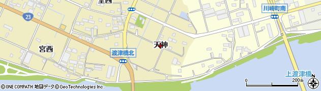 愛知県豊橋市清須町(天神)周辺の地図