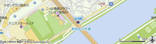 出河原周辺の地図