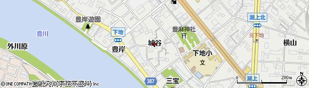愛知県豊橋市下地町(城谷)周辺の地図