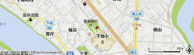 愛知県豊橋市下地町(宮前)周辺の地図