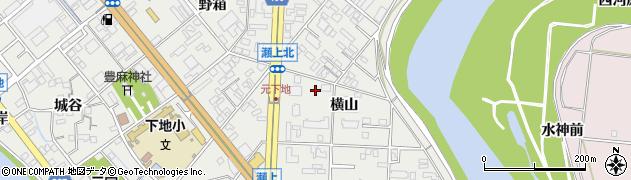 愛知県豊橋市下地町(横山)周辺の地図