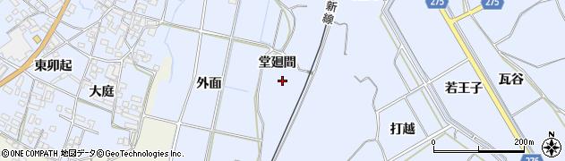 愛知県美浜町(知多郡)奥田(堂廻間)周辺の地図