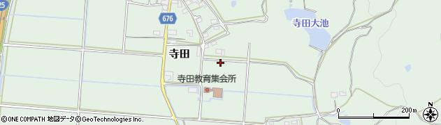 三重県伊賀市寺田周辺の地図