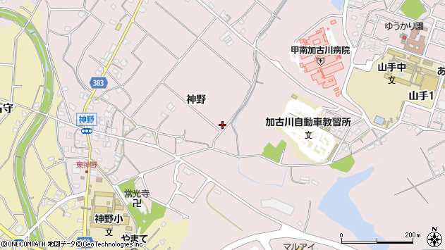 〒675-0003 兵庫県加古川市神野町神野の地図