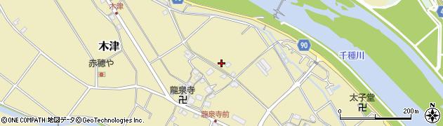 兵庫県赤穂市木津周辺の地図