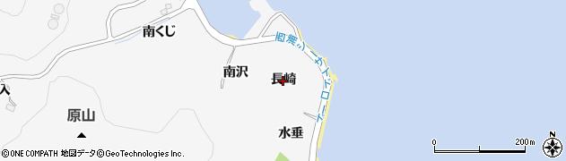 愛知県蒲郡市西浦町(長崎)周辺の地図