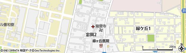 愛知県豊橋市忠興周辺の地図