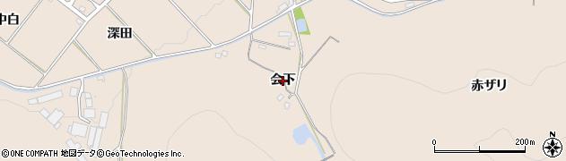 愛知県豊橋市石巻町(会下)周辺の地図