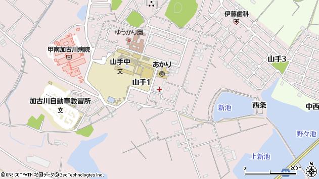 〒675-0002 兵庫県加古川市山手の地図