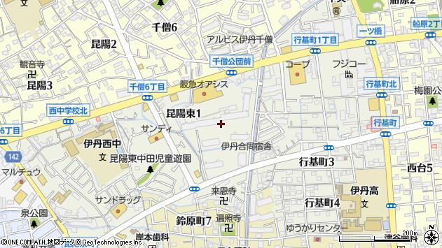 〒664-0886 兵庫県伊丹市昆陽東の地図