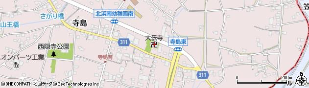 大伝寺周辺の地図