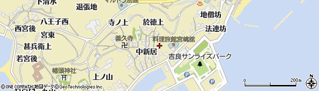 愛知県西尾市吉良町宮崎(東新居)周辺の地図