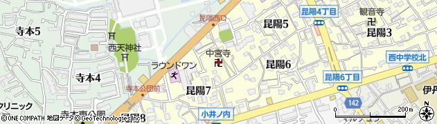 中宮寺周辺の地図