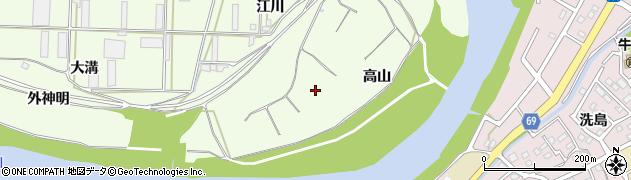 愛知県豊橋市大村町(高山)周辺の地図