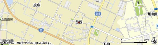 愛知県豊橋市清須町(堂西)周辺の地図