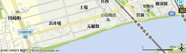 愛知県豊橋市横須賀町(元屋敷)周辺の地図