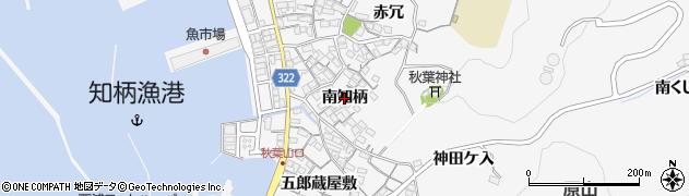 愛知県蒲郡市西浦町(南知柄)周辺の地図