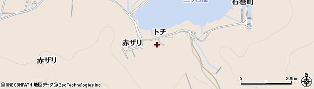愛知県豊橋市石巻町(トチ)周辺の地図