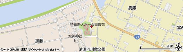 愛知県豊橋市清須町(外河原)周辺の地図