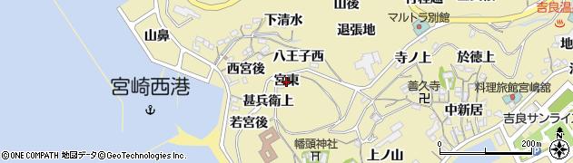 愛知県西尾市吉良町宮崎(宮東)周辺の地図