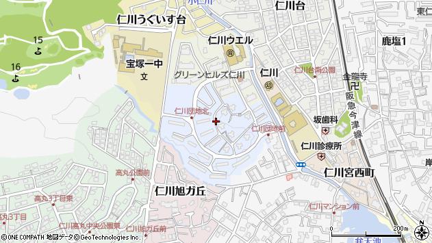 〒665-0068 兵庫県宝塚市仁川清風台の地図