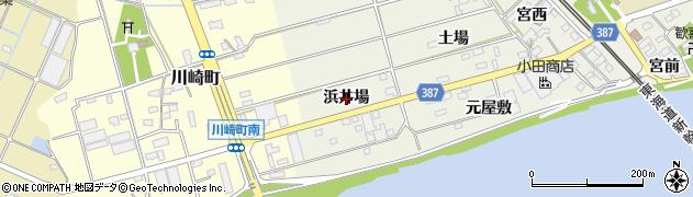 愛知県豊橋市横須賀町(浜井場)周辺の地図
