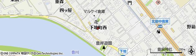 愛知県豊橋市下地町(西)周辺の地図