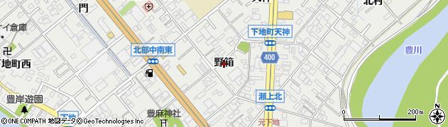 愛知県豊橋市下地町(野箱)周辺の地図