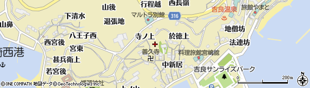 愛知県西尾市吉良町宮崎周辺の地図
