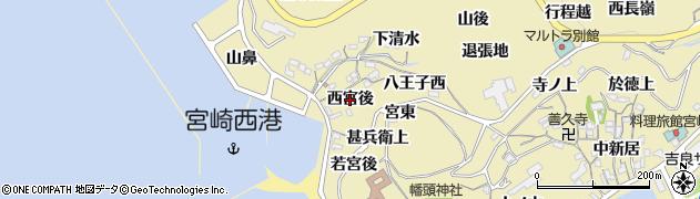愛知県西尾市吉良町宮崎(西宮後)周辺の地図