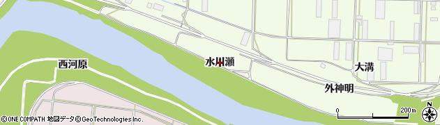 愛知県豊橋市大村町(水川瀬)周辺の地図